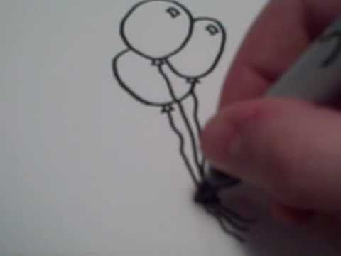 how to draw birthday balloons step by step
