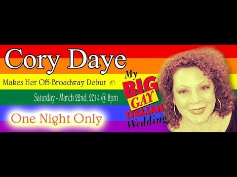 The Amazing Cory Daye in My BIG Gay Italian Wedding March 22nd, 2014 POW WOW!