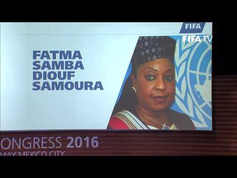 VIDEO: FIFA boss announces Fatma Samba Diouf Samoura as Secretary General
