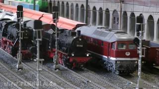Die große Modellbahn in Spur 1 im Hamburg Museum vom Modelleisenbahn Hamburg e.V.