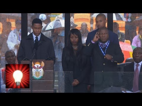 Nelson Mandela memorial fake sign language interpreter - what he actually said - This is Genius