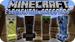 Minecraft ELEMENTAL CREEPERS MOD