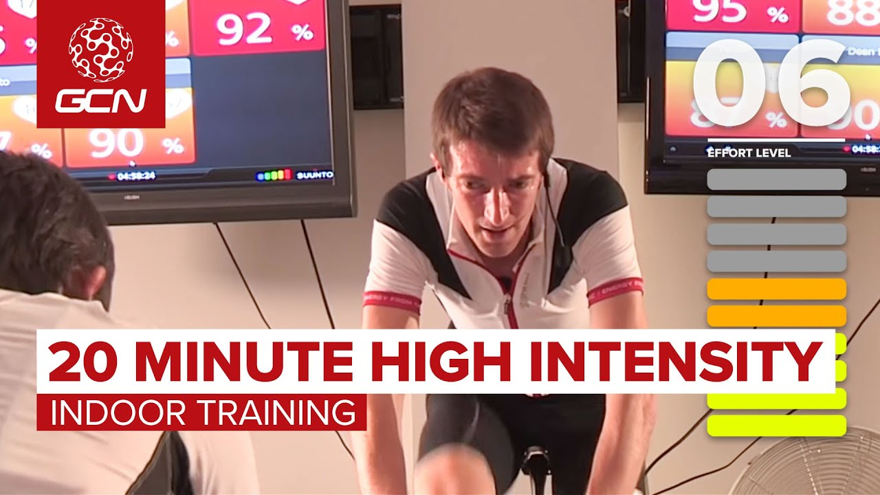 20 Minute High Intensity Indoor Cycling Workout