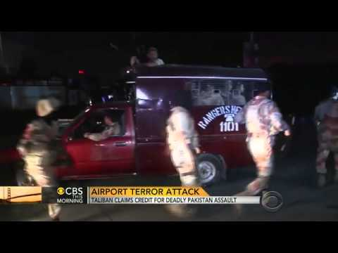 Taliban claims credit for deadly Pakistan airport assault