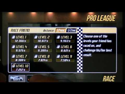 Drag Racing TUNE 7.259 level 10 1/4 Bugatti Veyron 1st gear tune