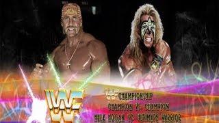 WWE 13: Ultimate Warrior Vs Hulk Hogan- Title Vs Title