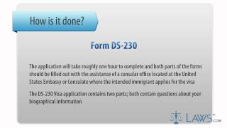 Learn How To Fill The Form DS-230 Application For