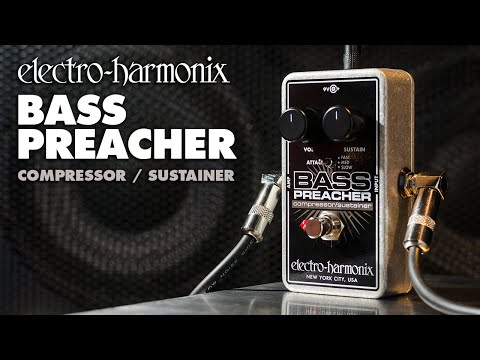 Electro Harmonix Bass Preacher Compressor / Sustainer Effects Pedal for Guitar