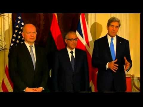 Secretary Kerry Delivers Remarks With U.K. Foreign Secretary Hague and Libyan Prime Minister Zeidan