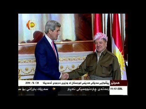 US John Kerry visist Iraqi Kurdistan, meets leader