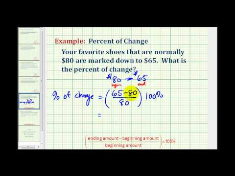 Determine a Percent of Change (decrease)