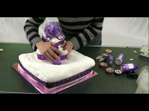 How to make a towel cake fun gift ideas and centerpieces - How to make towel decorations ...