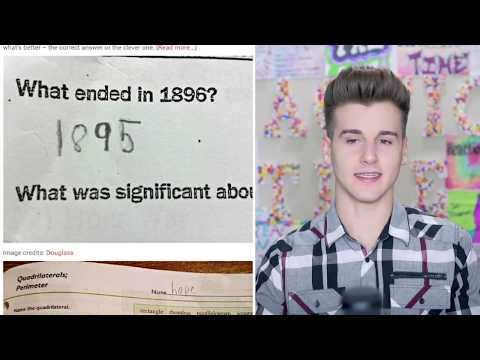 Funniest Test Answers From Kids!