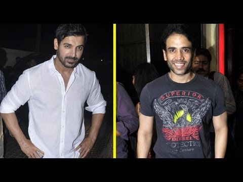 PHOTOPLAY! John & Tusshar At Media Screening Of 'SAW'