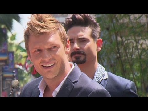 Nick Carter thanks Backstreet fans, chokes up at ceremony