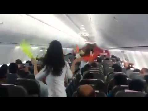 Dance performance in spice jet flight