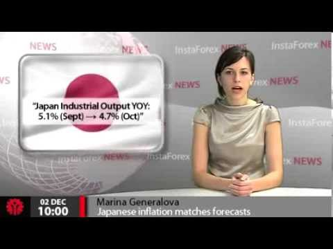 InstaForex News 2 December. Japanese inflation matches forecasts