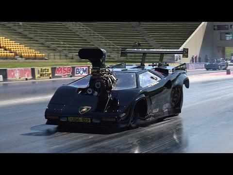 Lediglich 6,7 Sekunden braucht dieser Lamborghini für die Viertelmeile