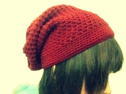 [Crochet] Hướng dẫn móc mũ slouch kiểu 1