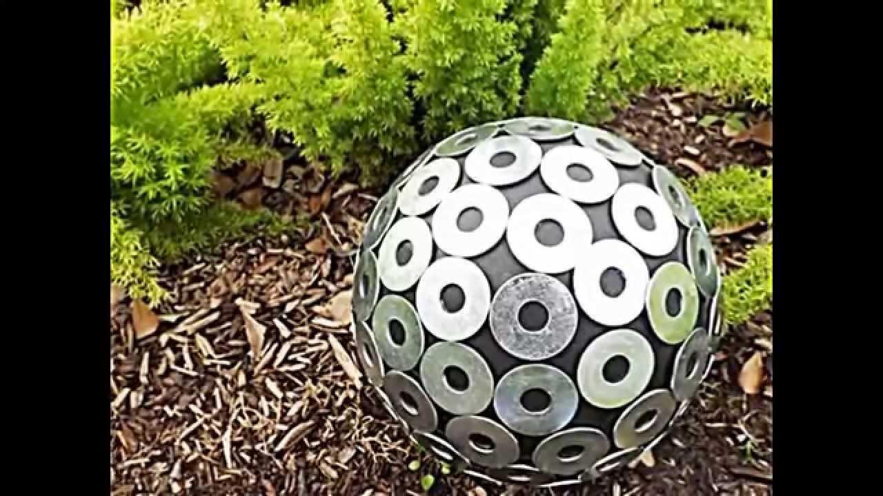 20 sommerliche garten deko ideen mit bowlingkuggeln zum selbermachen youtube. Black Bedroom Furniture Sets. Home Design Ideas