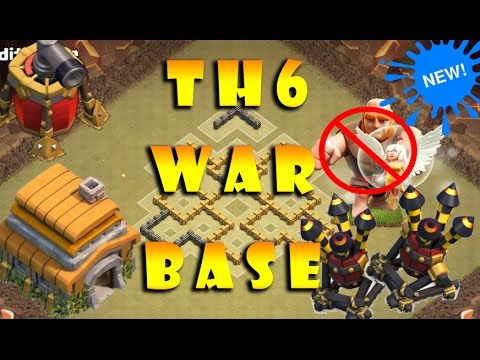 Best TH6 War Base 2016 with Air sweeper (Anti Giant) !!