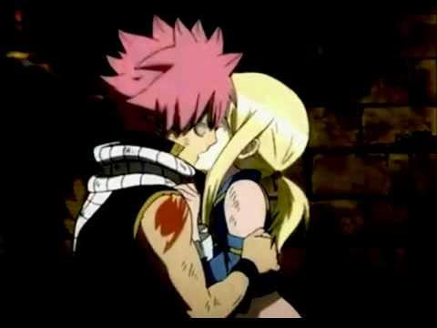 Natsu and Lucy kiss - NaLu [Fairy Tail] FANMADE