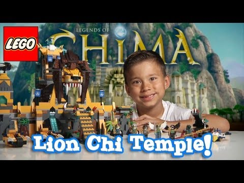 LION CHI TEMPLE - LEGO Legends of Chima Set 70010 Time-lapse Build, Unboxing & Review by EvanTubeHD