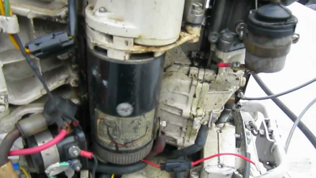 Old Evinrude 60HP Wiring Repair - YouTube