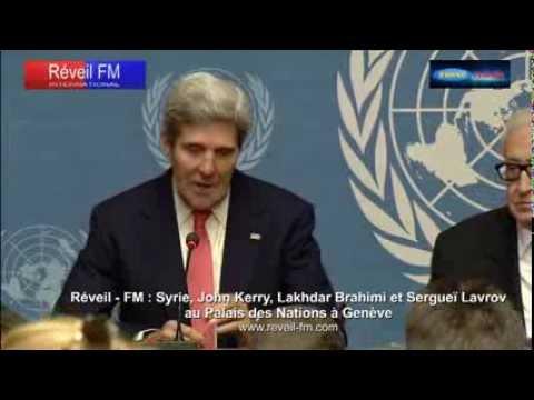 Réveil-FM: Syrie, John Kerry, Sergueï Lavrov et Lakhdar Brahimi  au Palais des Nations à Genève