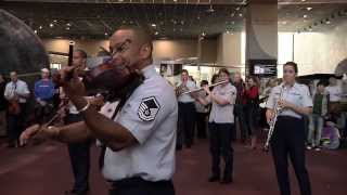 The USAF Band Holiday Flash Mob At The National Air And