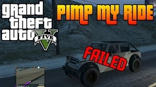 GTA V Pimp My Ride #27 Crusader (Army Jeep) Failed