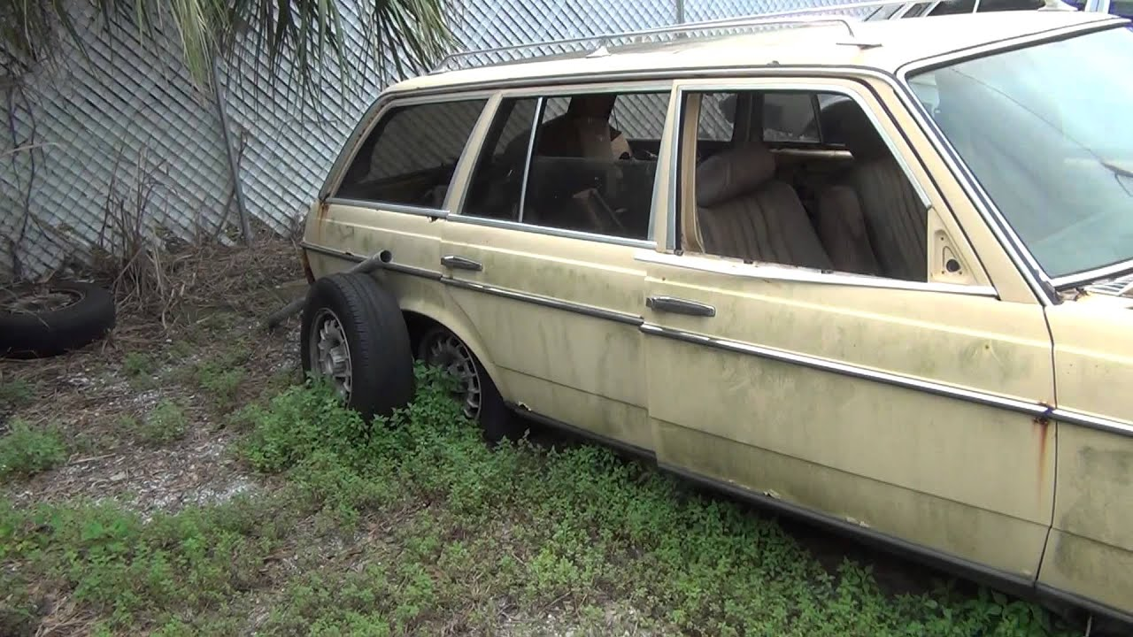 Rip poor old diesel mercedes 300td station wagon atleast for Mercedes benz scrap yard