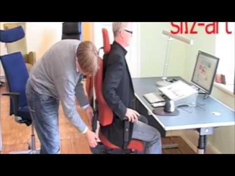 ergonomischer arbeitsplatz sitz art in l beck youtube. Black Bedroom Furniture Sets. Home Design Ideas