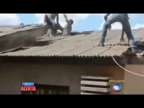Sorriso: Ladrão atrapalhado tenta fugir pelo telhado e se dá mal