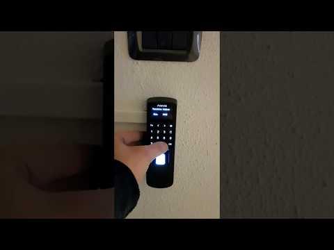 Controllo accessi Anviz P7 apertura varco controllato con Pincode