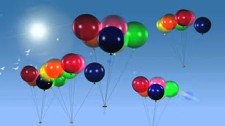 Colorful Balloons Premium HD Video Background HD0381
