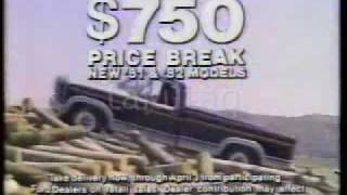 1983 Ford Truck Commercial