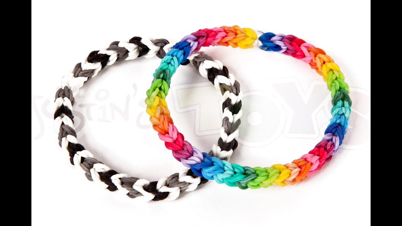 How to make a Classic Single Double Capped/Looped Rainbow ... Rainbow Loom Double Triple Single