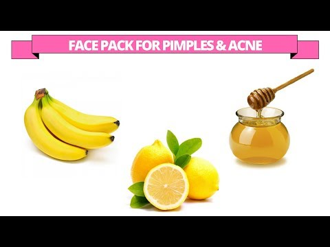 Banana face pack to treat pimples and acne
