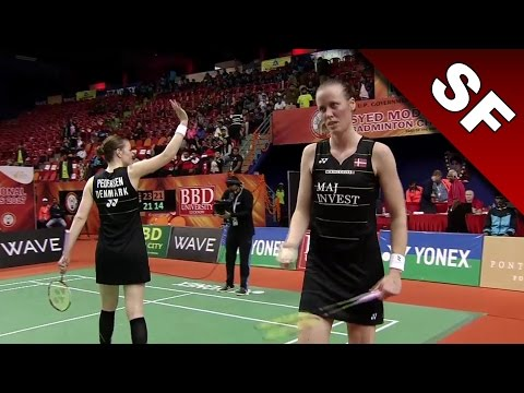 Syed Modi International Badminton C'ships 2017 | SF | Juhl/Ped vs Lim/Yap [HD]
