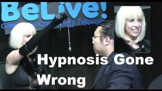 Hypnosis Gone Wrong! Lady Hypnotist Turns A Man Into A