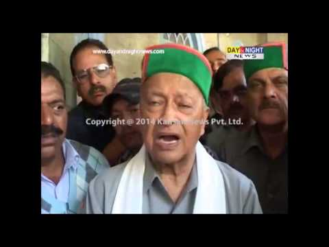 Virbhadra Singh addresses election rally in Rampur