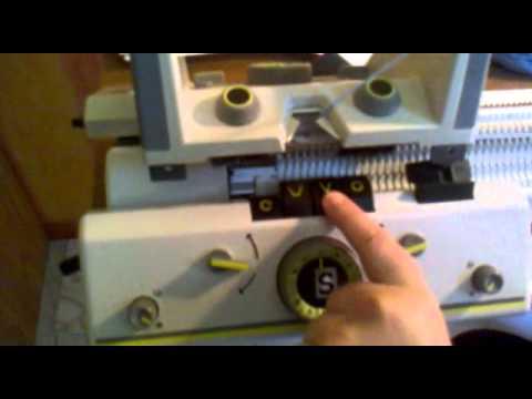 comment commencer un tricot sur machine à tricoter singer double fonture