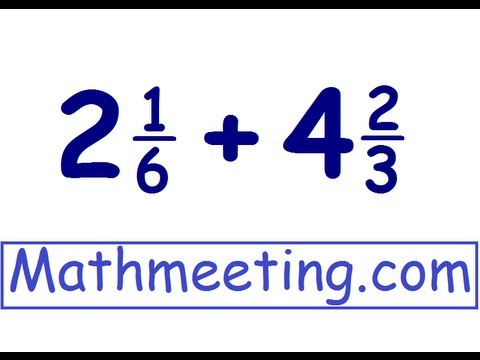 how to add multiple fractions with whole numbers