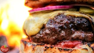MOST.EPIC.CHEESEBURGER! - Stone-Fried in the Forest