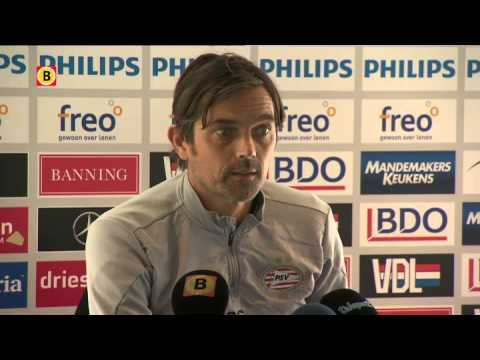 PSV-trainer Phillip Cocu over Vitesse