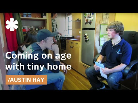 Teen tiny house builder Austin Hay finishes dorm on wheels