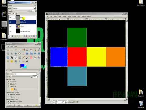 Texture Mapping in Maya:  Cube (Part 2)