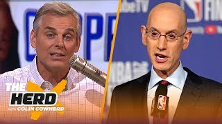 Colin discusses Adam Silver's pro-player missteps & how KD's decision reflects them | NBA | THE HERD