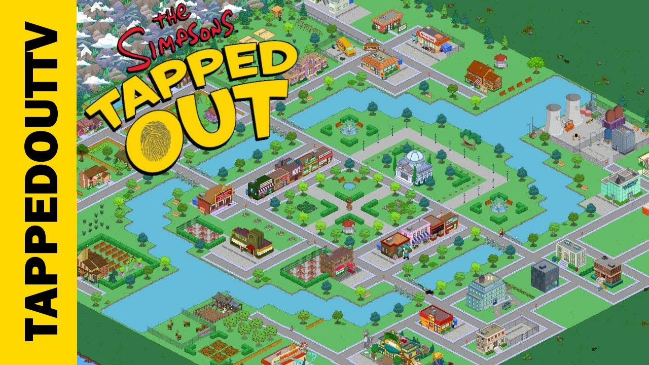 Simpsons Tapped Out Springfield Map